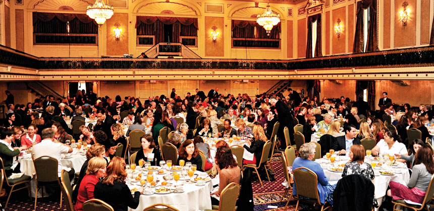 "The 2012 American Society of Journalists and Authors' 41st Annual Writers Conference assembled in the ""grand spaces"" of the Roosevelt Hotel. Credit: Mark Bennington, courtesy of ASJA."