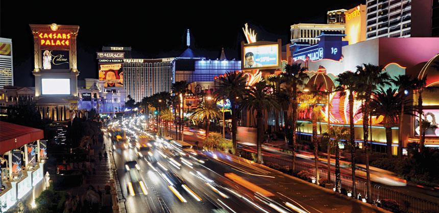 Action and entertainment are 24/7 on The Las Vegas Strip. Credit: Las Vegas News Bureau/Glenn Pinkerton