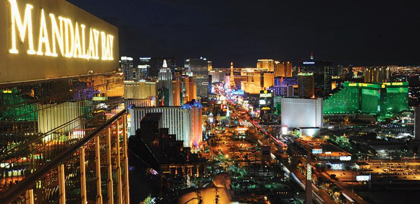 The world-famous Las Vegas Strip as seen from Mandalay Bay. Credit: Las Vegas News Bureau