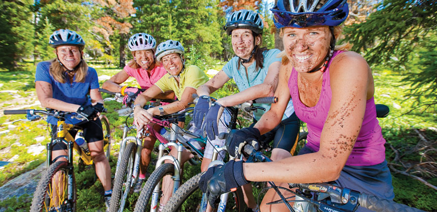 "Younger incentive qualifiers would rather engage in ""weekend warrior"" activities — like this mountain-biking group at Keystone Resort in Colorado — than attend a stuffy, formal dinner. Credit: Keystone Resort"