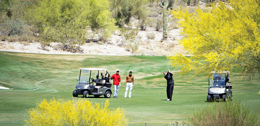 Beltone Electronics kicked off their meeting at The Westin La Paloma Resort & Spa in Tucson, AZ, with a golf tournament to encourage networking and promote camaraderie and team spirit among their attendees. Credit: Steve Donisch, courtesy of Beltone