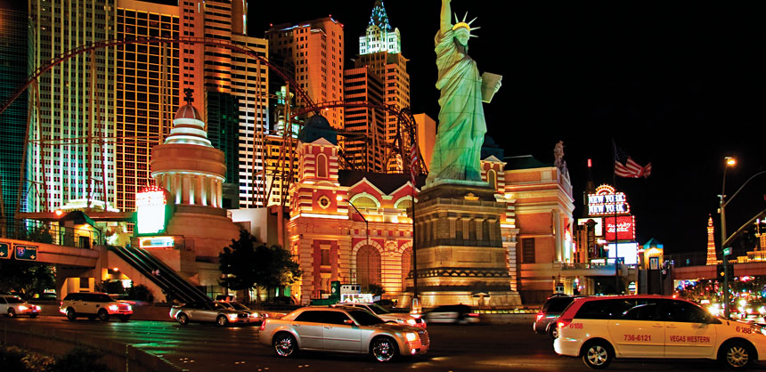 New York-New York Hotel & Casino has a variety of unique, Big Apple-themed venues for meetings and events. Credit: Kushch Dmitry/www.shutterstock.com