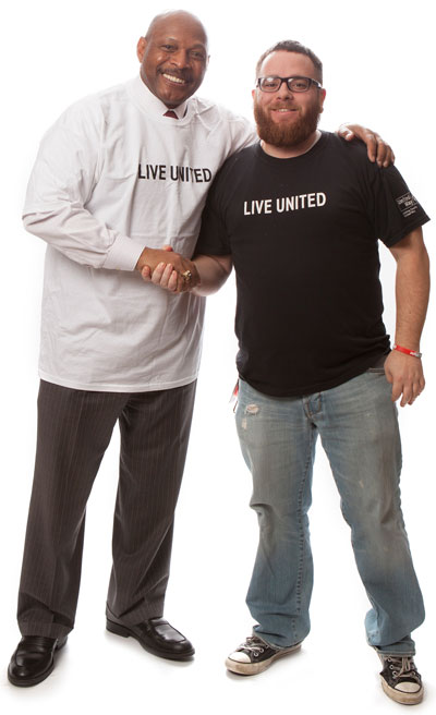 United Way of Licking County Ohio raffled off a celebrity photo shoot with two-time Heisman Trophy winner Archie Griffin. Credit: Martin Digital Photography