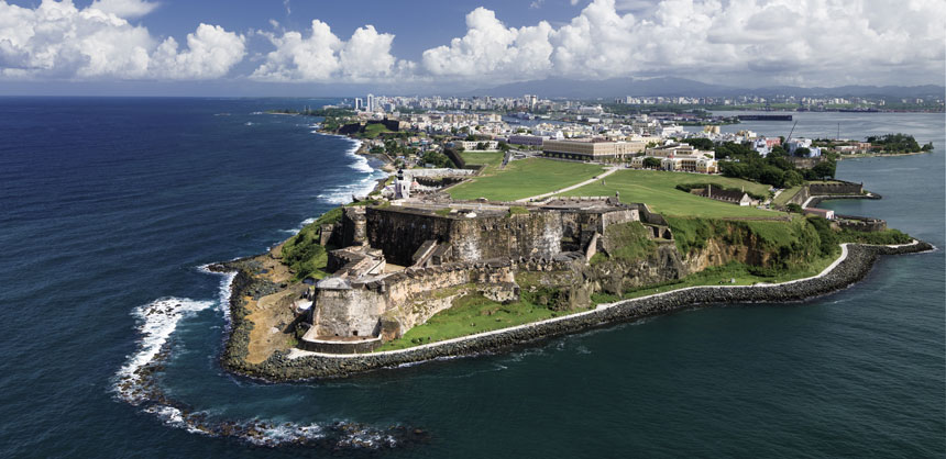One of Puerto Rico's most recognizable landmarks, El Morro is a historic fortress located on the northwestern-most point of Old San Juan. Credit: ©www.THOMASHARTSHELBY.com