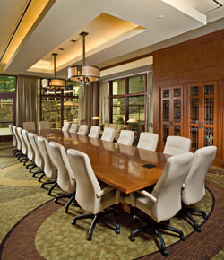 The boardroom at the Emory Conference Center Hotel.