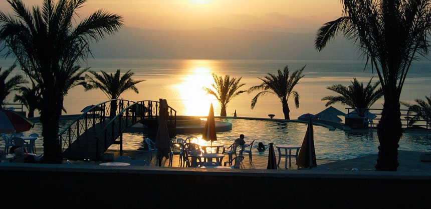 Sunset over the Dead Sea, which borders Jordan and Israel: Seacret Direct, which creates products using minerals from the Dead Sea, is planning a trip there this year for company leaders.