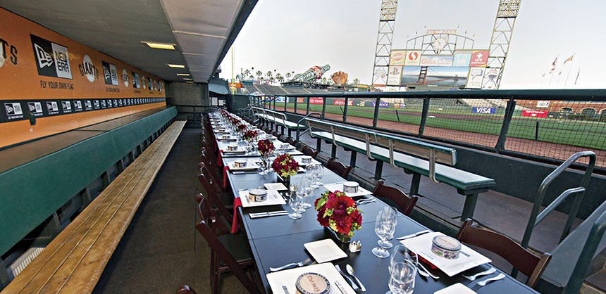 Authenticity is always a winner, and attendees will forever cherish the memory of this special event held in the dugout of a major league baseball team — all cleaned up of course. Credit Access Destination Services