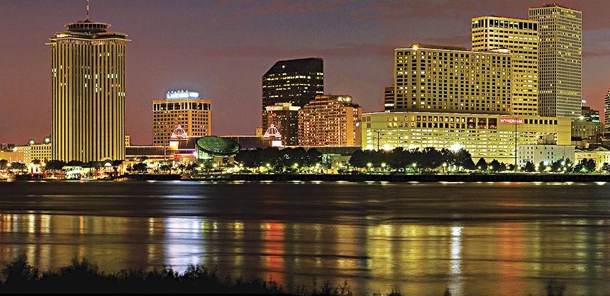 New Orleans Skyline. Credit Alex Demyan/NewOrleansOnline.com
