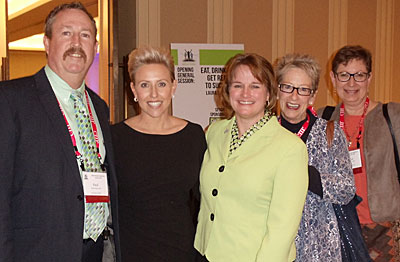 Paul Ruby of the Sheraton Dallas, ESPA 2014 Annual Conference keynote speaker, Laura Schwartz, ESPA President Julie Pingston of the Greater Lansing CVB, Devon Sloan of the Sheraton Tucson El Conquistador and Denise Suttle of the Albuquerque CVB.