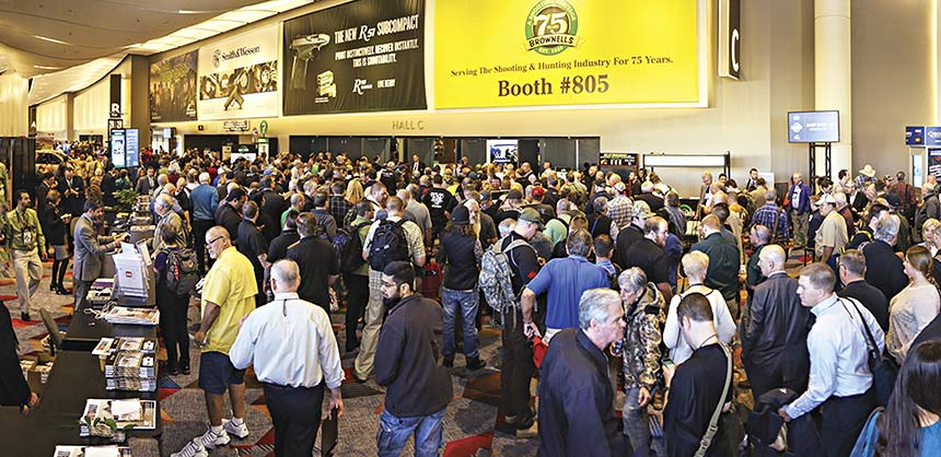 The National Shooting Sports Foundation brought more than 67,000 attendees to the Sands Expo & Convention Center in January for the Shot Show. The show will be held at Sands through 2018. Credit: NSSF