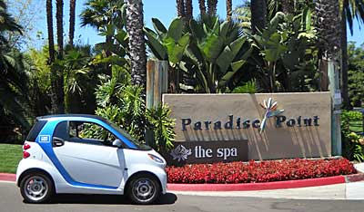 Paradise Point Resort & Spa, by Destination Hotels & Resorts, was named Recycler of the Year by the City of San Diego for their green initiatives including the all-electric car2go car-sharing program for guest and employee use.
