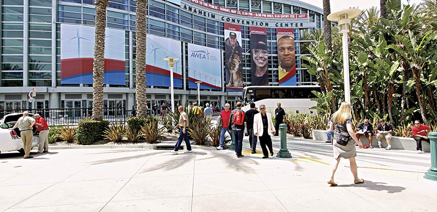 AWEA's Stefanie Brown says Anaheim, with hotels in walking distance of the convention center, makes it easy for attendees and keeps them happy. Credit: AWEA