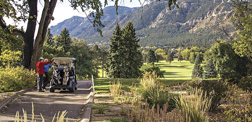 What could be better than a round of golf at The Broadmoor amid the splendor of the Rocky Mountains? Credit: The Broadmoor