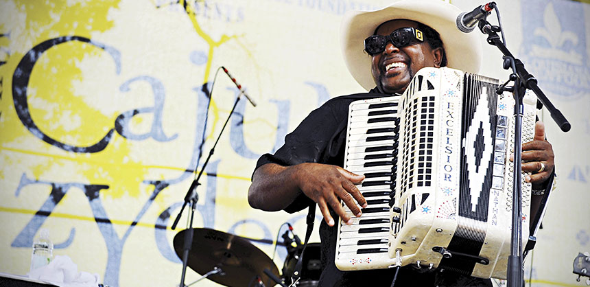 Nathan and the Zydeco Cha Chas perform at a Cajun Zydeco Festival in the French Quarter. Credit: Cheryl Gerber