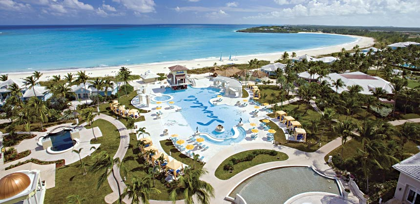 All-inclusive resorts that offer unlimited activities like Sandals Emerald Bay in Exuma are great options for tight budgets.