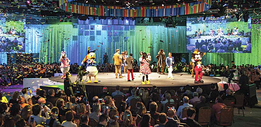 An opening event for a corporate conference at Disney's Contemporary Resort.