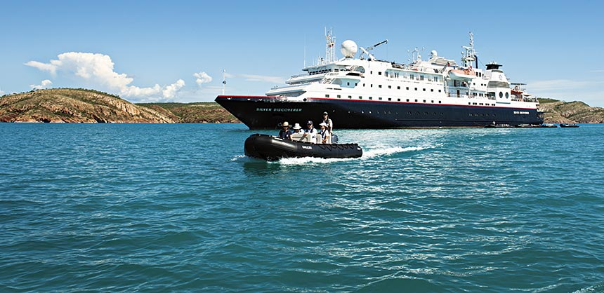 The newly refurbished Silversea Discoverer is designed for exploration.