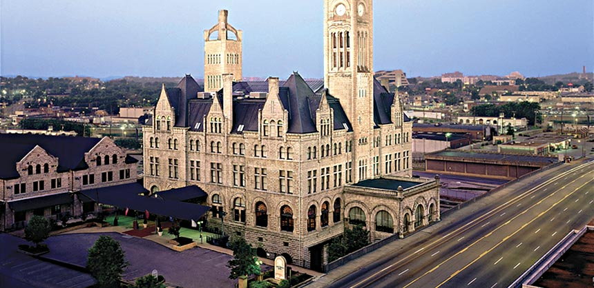 Union Station A Wyndham Grand Hotel in Nashville is a glowing example of a repurposed historic venue.