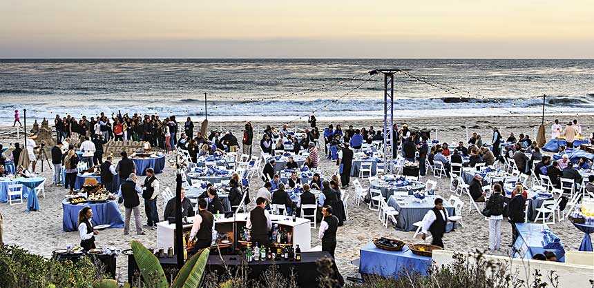 The Ritz-Carlton, Laguna Niguel set up a spectacular outdoor event for MicroVention at the beautiful Salt Creek Beach. Credit: MicroVention