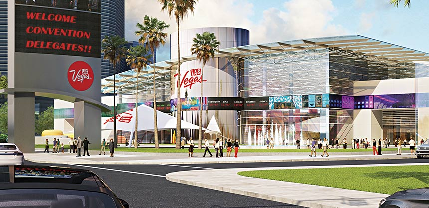 A rendering of the Las Vegas Global Business District.