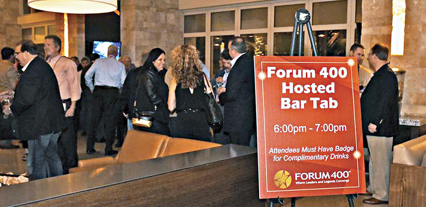 One of the many ways new branded sponsorships are helping to build meaningful relationships is a sponsored open bar where members can network. Credits: SmithBucklin