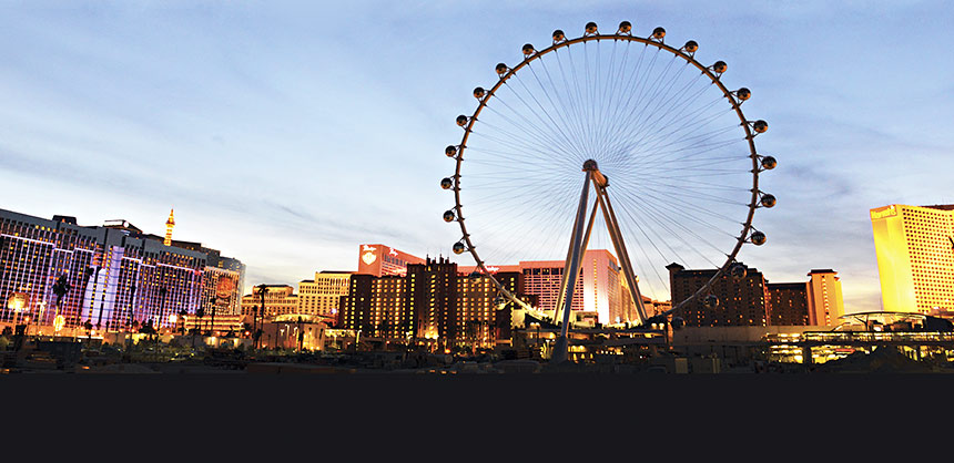 The High Roller observation wheel at The Linq.