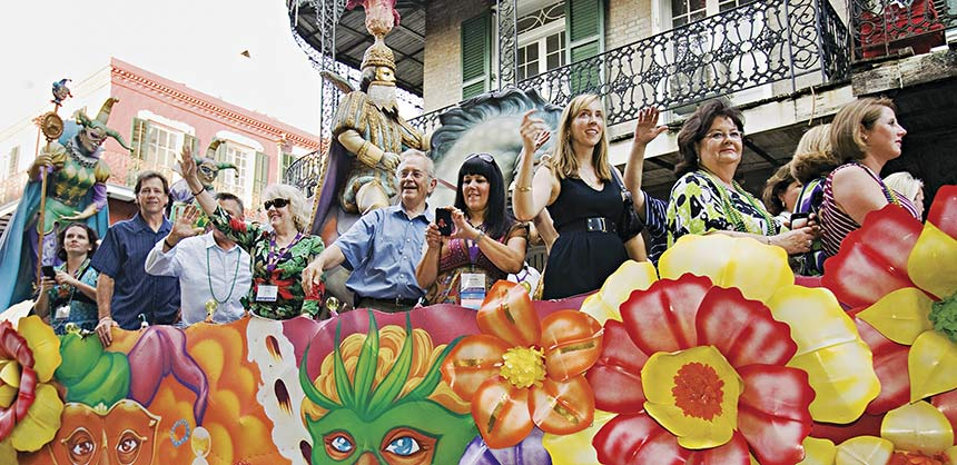 Meeting-goers parade through the French Quarter in true New Orleans style. Credit: Accent on Arrangements