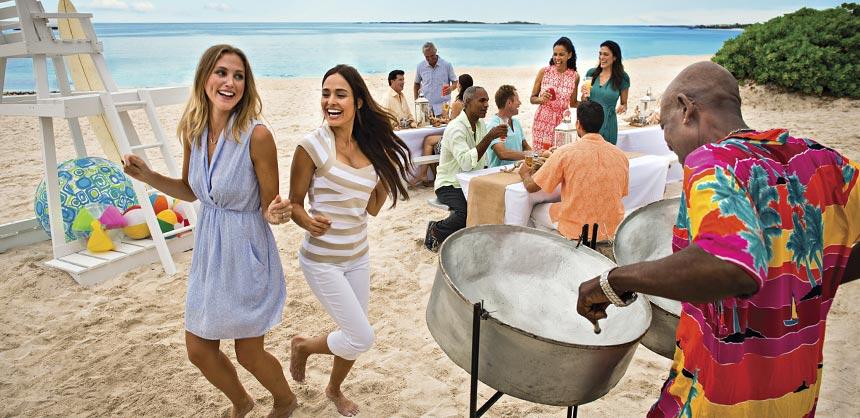 A meeting setup on the beach at Atlantis, Paradise Island, Bahamas. Credit: Atlantis, Paradise Island, Bahamas