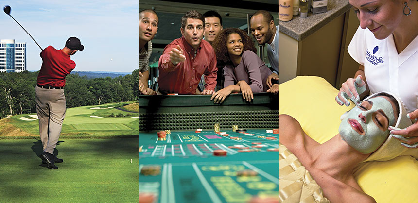 Foxwoods Resort Casino offers Lake of Isles Golf Club, extensive gaming and two spas. Credits: Foxwoods Resort Casino