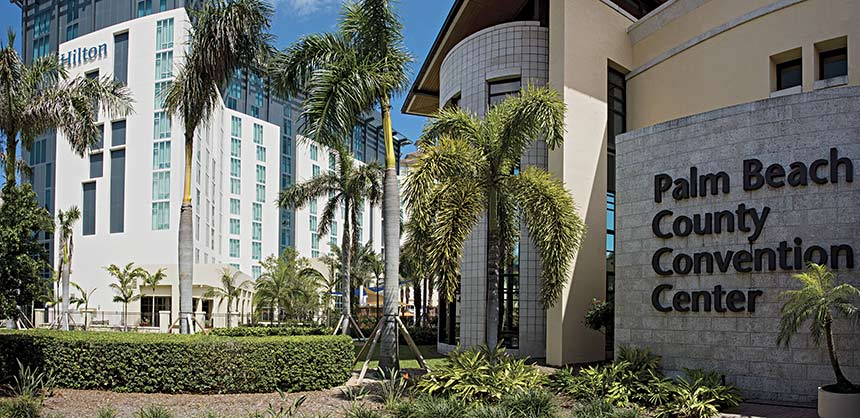 The new Hilton West Palm Beach is the only hotel in South Florida to be directly connected to a convention center.