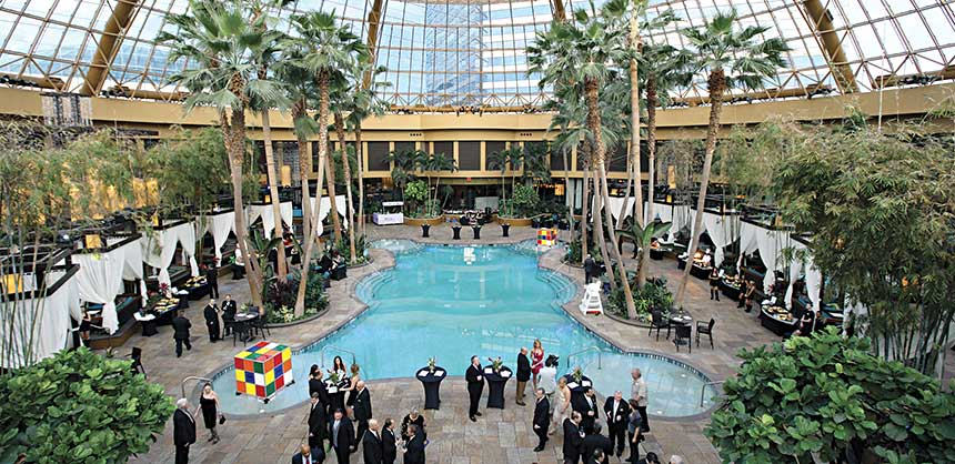 An ideal venue for association events and receptions, the Pool at Harrah's Resort Atlantic City doubles as a hot nightclub after hours.