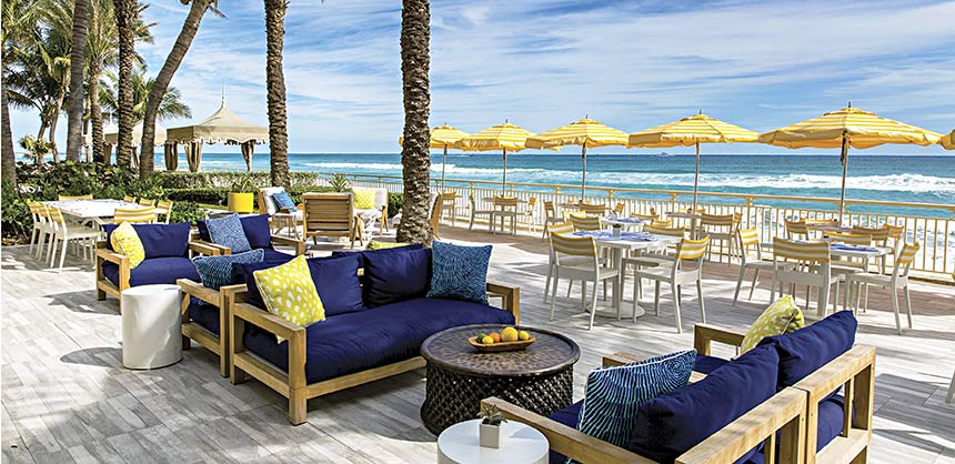The new Breeze Ocean Kitchen restaurant at Eau Palm Beach Resort & Spa.