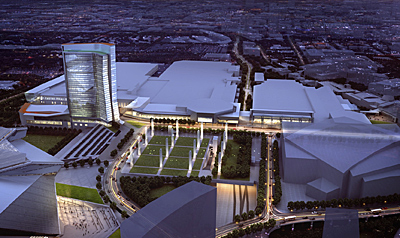 Atlanta s convention corridor to undergo major for Mercedes benz stadium atlanta hotels