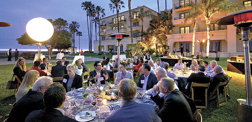 Participants in TD Ameritrade's June 2016 Elite LINC conference enjoy the ambience at The Ritz-Carlton, Laguna Niguel.