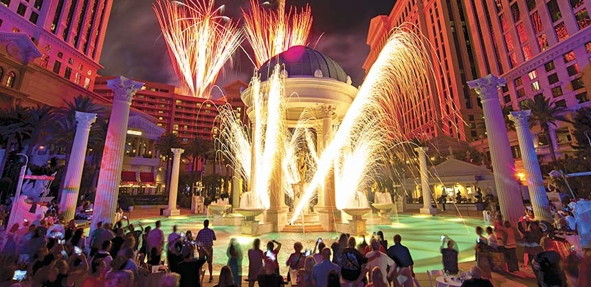 The world-renowned Caesars Palace Las Vegas recently celebrated its golden anniversary with a weekend of exciting events highlighted by fireworks.