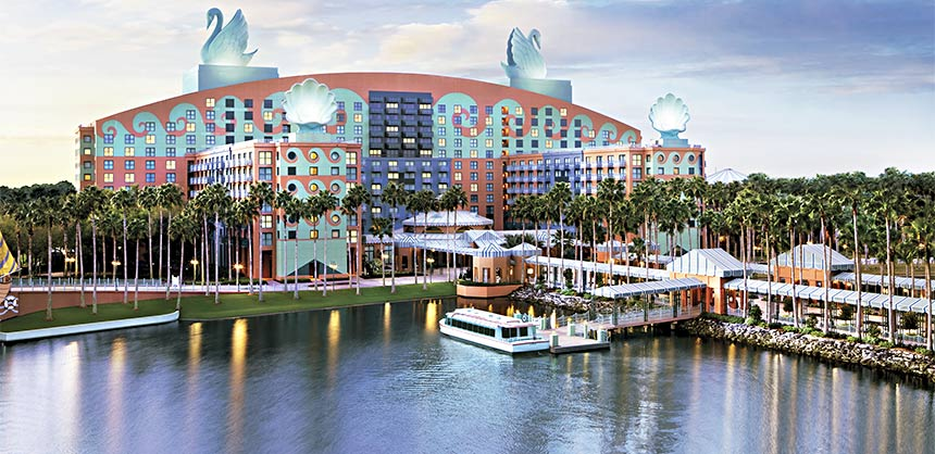 Meeting groups at the Walt Disney World Swan and Dolphin Hotel are minutes from both Disney and the boardroom.