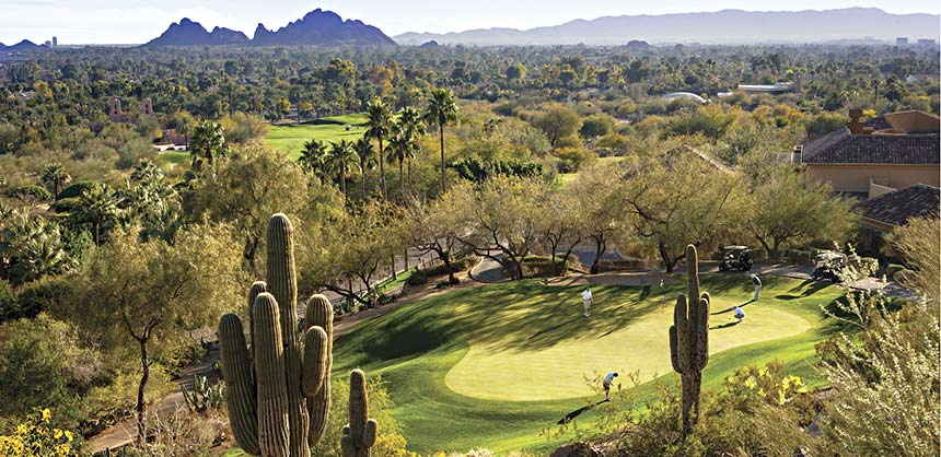 The Phoenician in Scottsdale, Arizona, boasts 27 holes of golf.