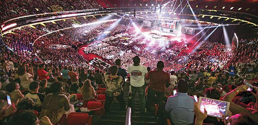 Primerica's convention in Atlanta's Georgia Dome rallied some 40,000 attendees. Credit: Primerica