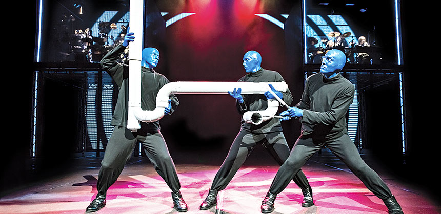 Blue Man Group fully engages audiences with innovative and interactive performances — a style they pioneered in 1991.