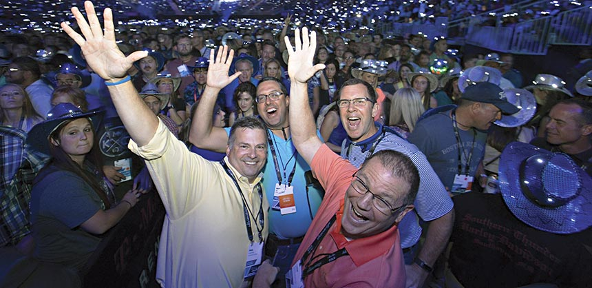 Cisco Live 2016, hosted by several MGM Resorts International properties, including T-Mobile Arena, attracted 28,000 attendees. Credits: Cisco Live