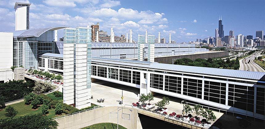 In Chicago, McCormick Place's North Building is positioned to be used independently or with other buildings.