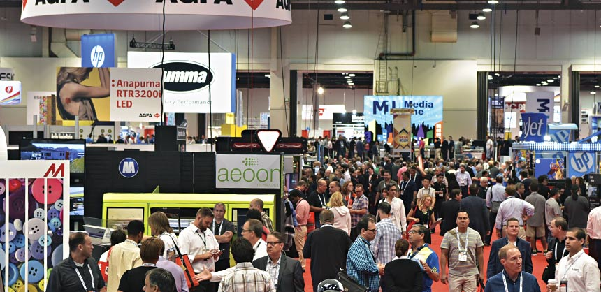 The 2016 Specialty Graphic Imaging Association Expo in Las Vegas. Credits: Specialty Graphic Imaging Association