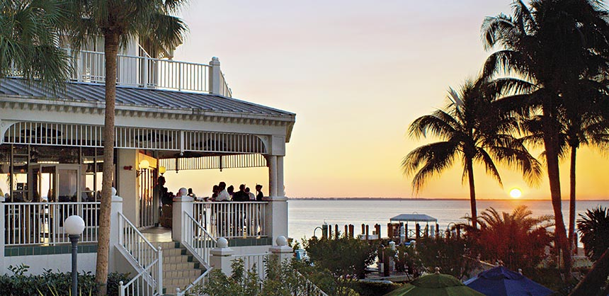 Spectacular sunsets make for memorable meetings at the Sanibel Harbour Resort & Spa in Fort Myers, Florida.