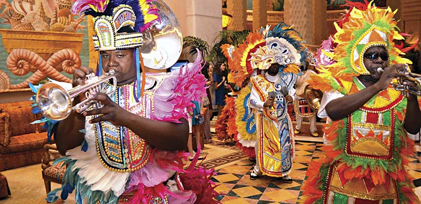 Atlantis Paradise Island recently introduced the new Junkanoo Bahamian Fest & Feast teambuilding program. Credit: Atlantis Paradise Island Bahamas