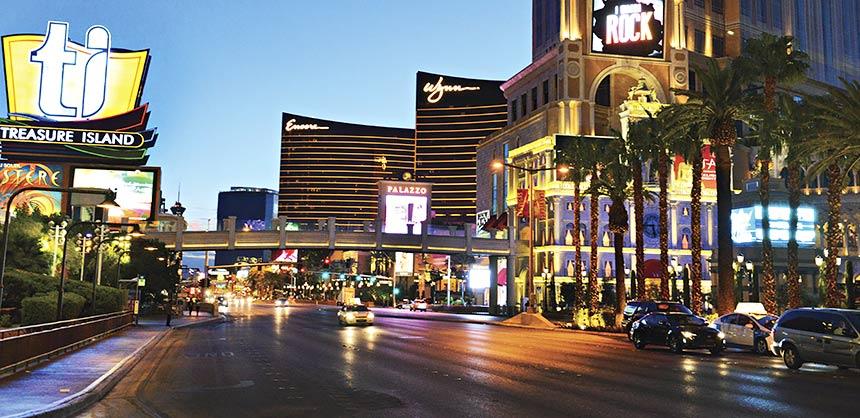 The Las Vegas Strip. Credit: Las Vegas News Bureau