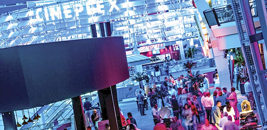 A block party at Universal CityWalk.