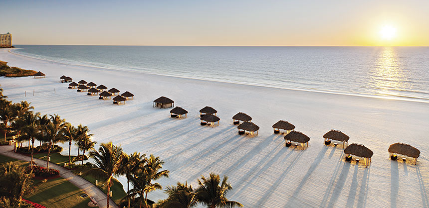 This view from the JW Marriott Marco Island Beach Resort & Spa displays some of the reasons Florida is popular with meeting and event planners. Credit:  Jeff Herron