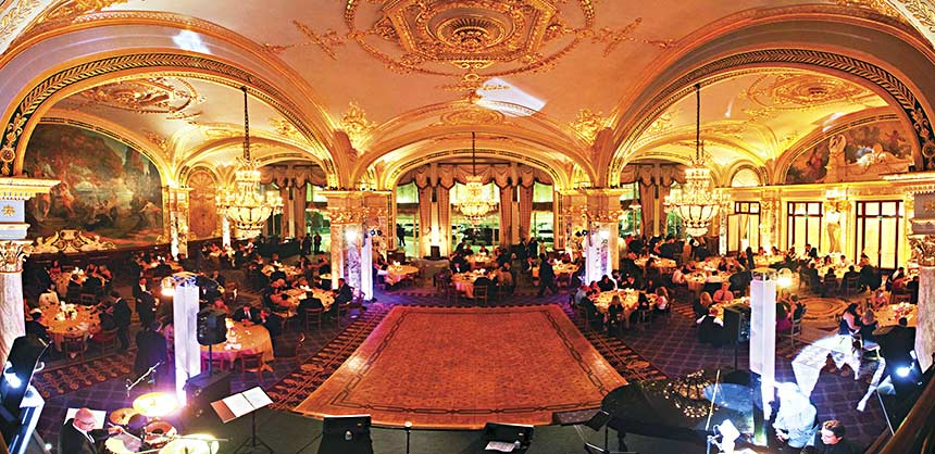 The Castle Group planned this glitzy evening at the famous Hotel de Paris in Monte Carlo featuring live entertainment. Credit: The Castle Group