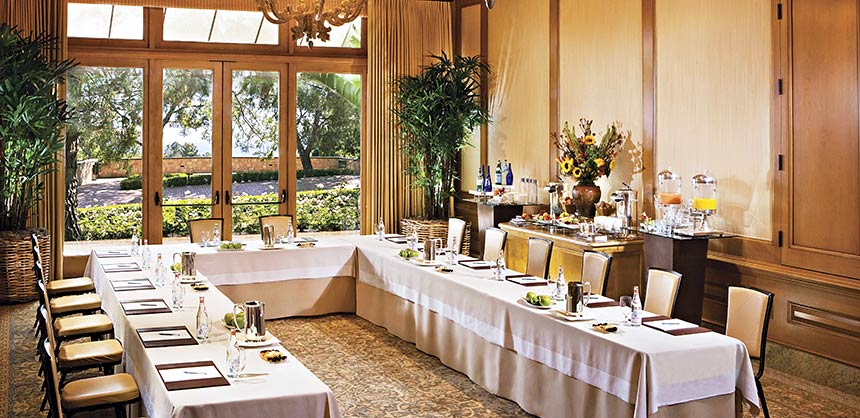 The Newport Boardroom at The Resort at Pelican Hill in Newport Beach, California.