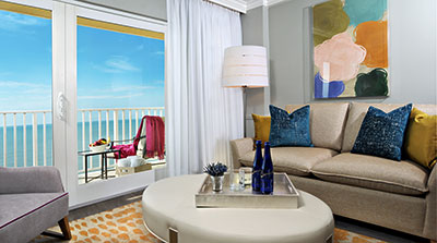 Fresh updates were provided in guest rooms in LaPlaya's Gulf Tower.